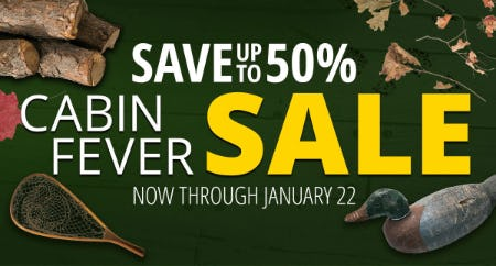 Cabin Fever Sale from Cabela's