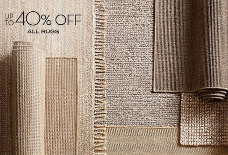 Up to 40% Off All Rugs from Pottery Barn