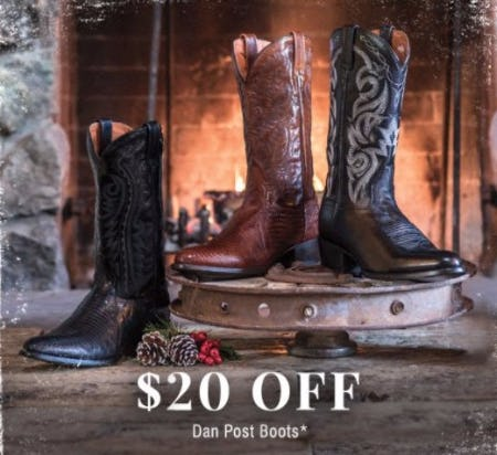 $20 Off Dan Post Boots