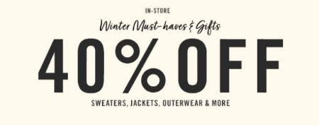 40% Off Winter Must-Haves & Gifts from Forever 21