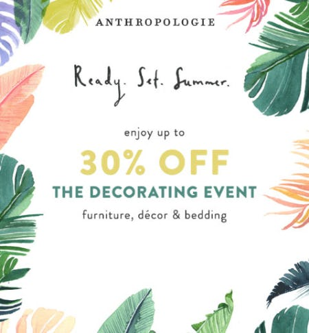 Up to 30% Off The Decorating Event