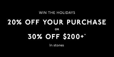20% Off Your Purchase from Madewell