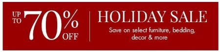 Holiday Sale up to 70% Off