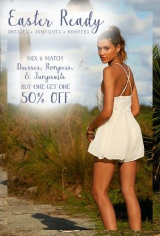 BOGO 50% Off Dresses, Rompers, & Jumpsuits from Altar'd State