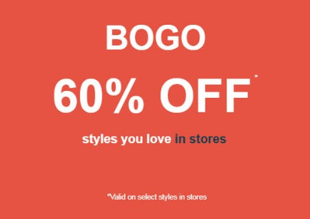 BOGO 60% Off Select Styles