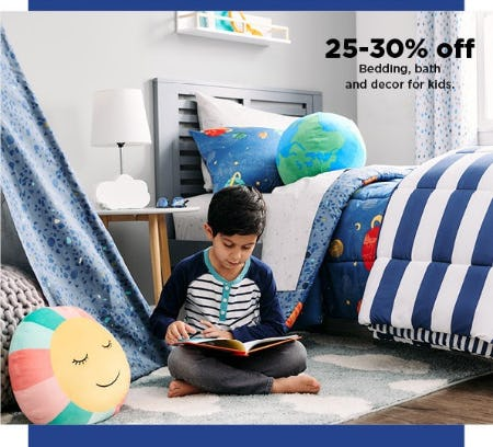 25-30% Off Bedding, Bath and Decor for Kids from Kohl's