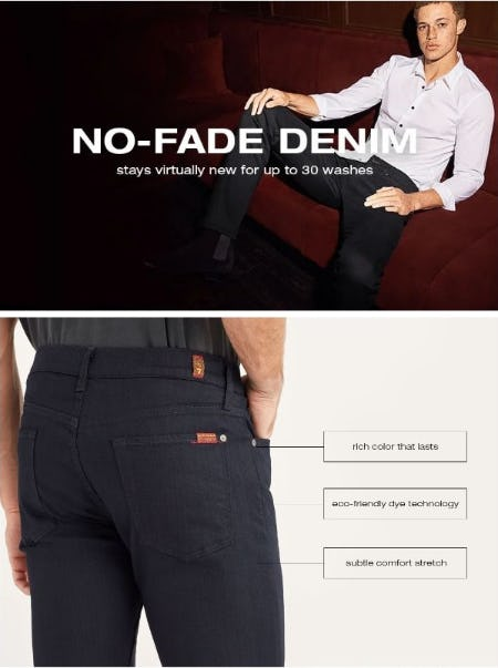 Introducing: No-Fade Denim from 7 for All Mankind