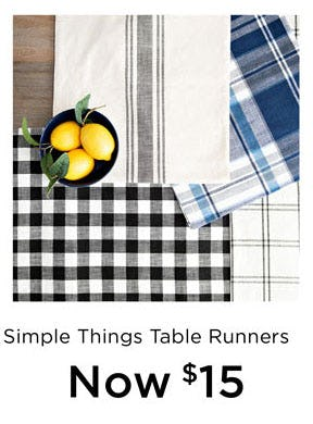 $15 Simple Things Table Runners from Kirkland's
