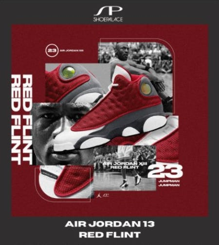 The Air Jordan 13 Red Flint Has Landed from SP Shoe Palace