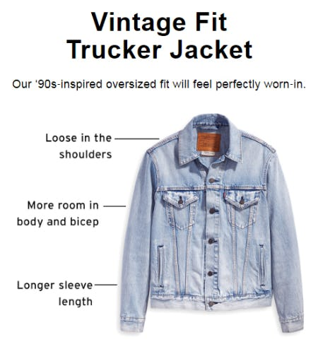 The Vintage Fit Trucker Jacket from The Levi's Store