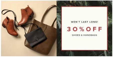 30% Off Shoes & Handbags from Lucky Brand Jeans