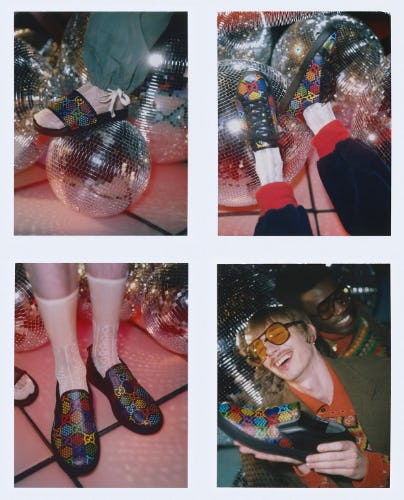 GG Psychedelic Rainbow-Hued Sneakers from Gucci