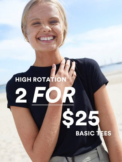 2 for $25 Basic Tees from Cotton On