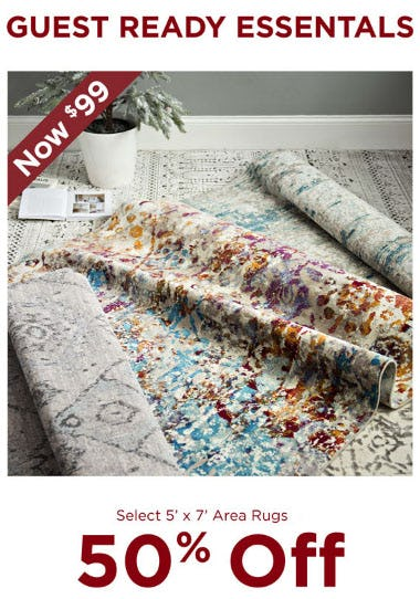 50% Off Area Rugs from Kirkland's Home