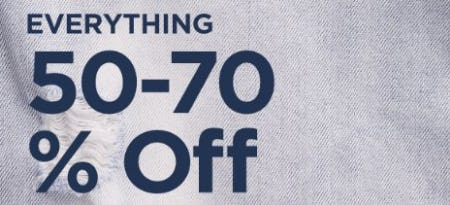 Everything 50-70% Off