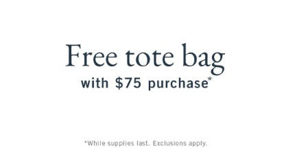 Free Tote Bag with $75 Purchase from Abercrombie & Fitch