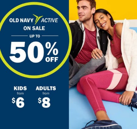 Up to 50% Off Old Navy Active Sale from Old Navy