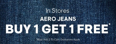BOGO Free Aero Jeans from Aéropostale