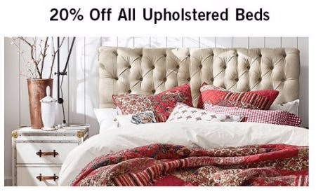 20% Off All Upholstered Beds
