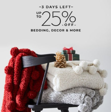Up to 25 Off Bedding, Decor & More from Pottery Barn