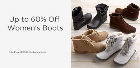 Up to 60% Off Women's Boots from Sears