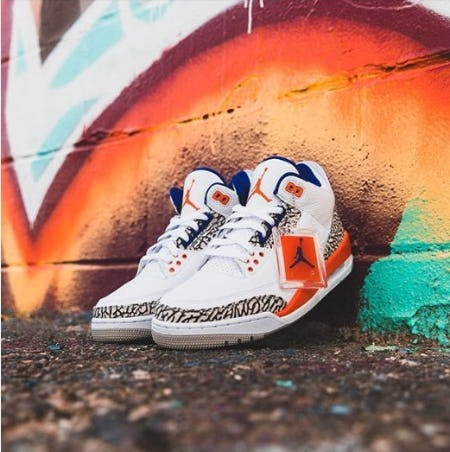 "New In: Air Jordan Retro 3 ""Knicks"" from DTLR"