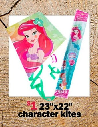 """$1 23"""" x 22"""" Character Kites from Five Below"""