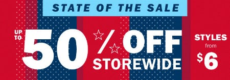 Up to 50% Off Sale from Old Navy