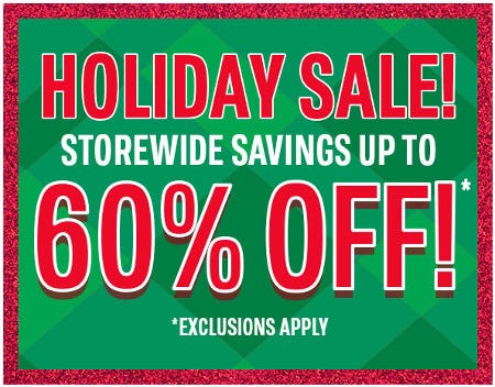 Storewide Savings Up to 60% Off from The Children's Place