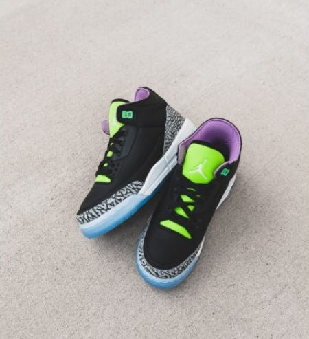 Air Jordan 3 Electric Green from DTLR