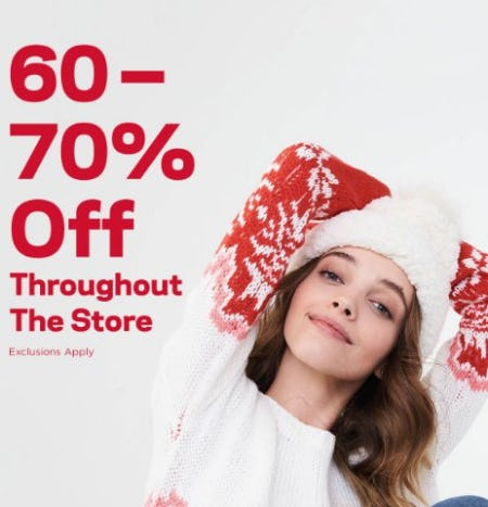 60-70% Off Throughout the Store from Aéropostale