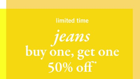 BOGO 50% Off Jeans from abercrombie kids