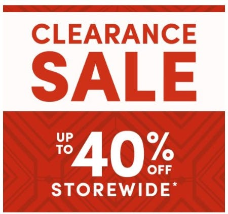 Up to 40% Off Storewide