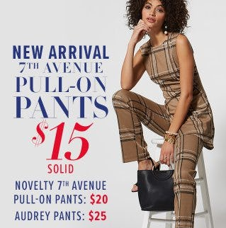 New Arrivals 7th Avenue Pull-On Pants $15 from New York & Company