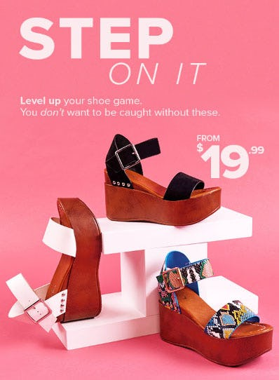 Wedges from $19.99 from Rainbow