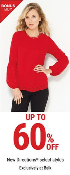 Up to 60% Off New Directions Select Styles