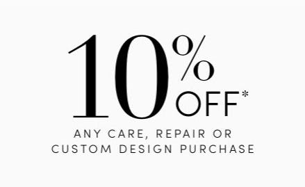 10% Off Any Care, Repair or Custom Design Purchase from Jared Galleria of Jewelry