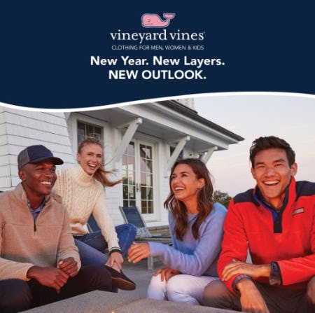 New Year. New Layers. New Outlook. from Vineyard Vines