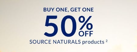 BOGO 50% Off Source Naturals Products from The Vitamin Shoppe