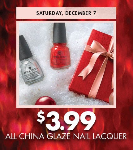 $3.99 All China Glaze Nail Lacquer from Sally Beauty Supply