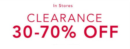 30-70% Off Clearance from Lane Bryant