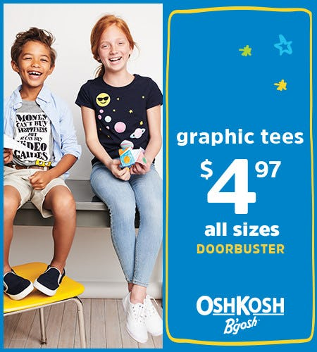Graphic Tees $4.97 All Sizes Doorbuster* from Oshkosh B'gosh