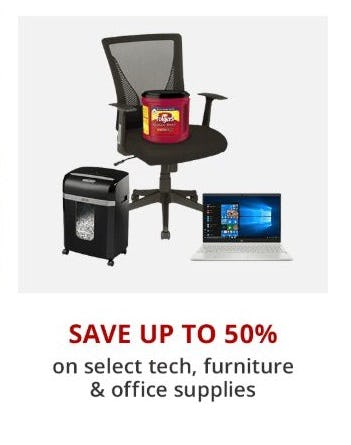 Up to 50% Off Select Tech, Furniture & Office Supplies from Office Depot