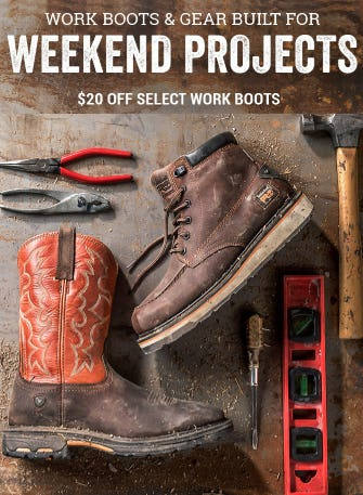 $20 Off Select Work Boots from Boot Barn Western And Work Wear