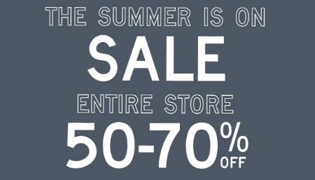 Entire Store 50-70% Off from Aéropostale