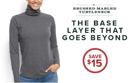 Save $15 Brushed Marled Turtleneck from Orvis