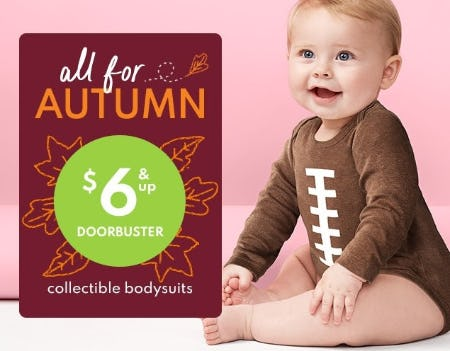 $6 & Up Doorbuster Collectible Bodysuits from Carter's
