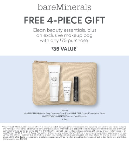 Mineralist Gloss Balm & Gen Nude Blonzer Launch Event: Gift with purchase of $75 or more from bareMinerals
