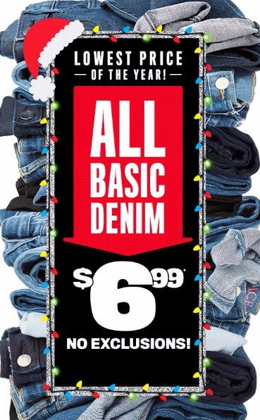 All Basic Denim $6.99
