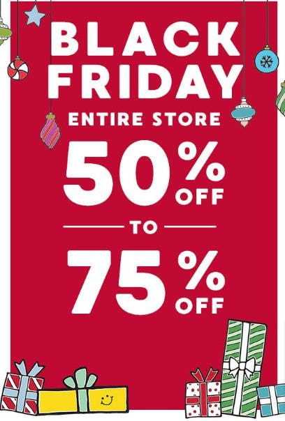 50% Off to 75% Off Entire Store from Gymboree